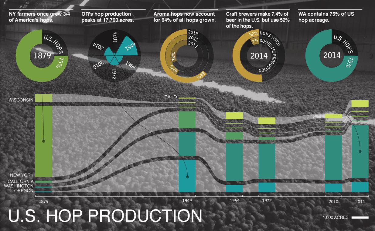 US Hop Production Data Story image